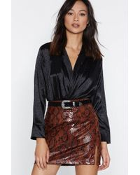 Nasty Gal - Cool For Cats Leopard Wrap Top - Lyst