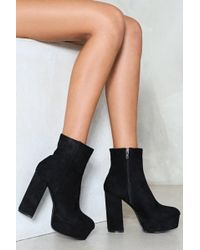 Nasty Gal - Finish On A High Note Platform Boot - Lyst