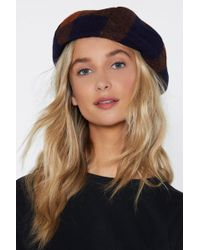 """Nasty Gal - """"use Your Head Wool Beret"""" - Lyst"""