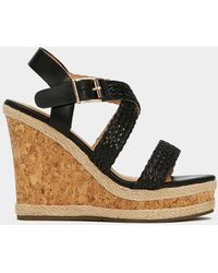 Nasty Gal - Strap Minded Faux Leather Wedge - Lyst