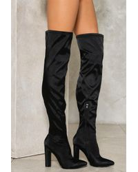 b894f781909cb0 Nasty Gal - Step It Up Over-the-knee Boot Step It Up Over