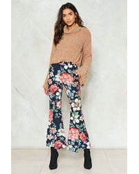 Nasty Gal - Hyacinth House Floral Flare Trousers - Lyst