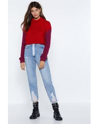 Nasty Gal - I Know What You Jean Distressed Jeans - Lyst