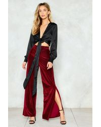 Nasty Gal - Tied Trying Satin Blouse Tied Trying Satin Blouse - Lyst
