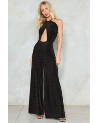 Nasty Gal - Keyhole High Neck Wide Leg Jumpsuit Keyhole High Neck Wide Leg Jumpsuit - Lyst
