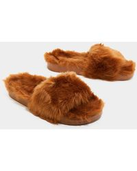 Nasty Gal - Comfy Never Looked So Good Faux Fur Slider - Lyst
