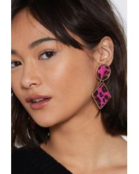 Nasty Gal - Caught My Attention Leopard Earrings - Lyst