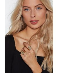 Nasty Gal - Crinkle In Time 3-pc Ring Set - Lyst