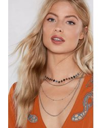 Nasty Gal - Layer Eyes On This Layered Necklace - Lyst