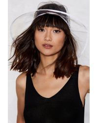 Nasty Gal - Coming Up From The Clear Bucket Hat - Lyst