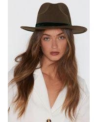 """Nasty Gal - """"bring To A Head Felt Fedora Hat"""" - Lyst"""