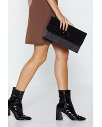 Nasty Gal - Want Hold It Faux Leather Clutch - Lyst