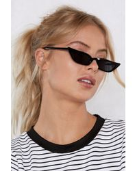 Nasty Gal - Are You Kitten Me Cat-eye Shades - Lyst