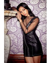 """Nasty Gal - """"turn Up The Night Faux Leather Dress"""" - Lyst"""