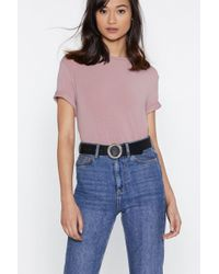 """Nasty Gal - """"change Your Ways Faux Leather Belt"""" - Lyst"""