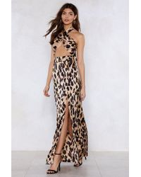 """Nasty Gal - """"so Fierce Leopard Top And Maxi Skirt"""" - Lyst"""