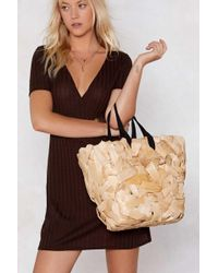 Nasty Gal - Want Straw The Line Shopper Bag - Lyst