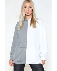 Nasty Gal - Give Me Half A Chance Oversized Hoodie - Lyst