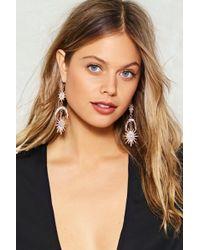 Nasty Gal - Diamante Statement Sun & Moon Earring Diamante Statement Sun & Moon Earring - Lyst