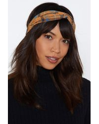 Nasty Gal - Check 'em Down Knot Headband - Lyst