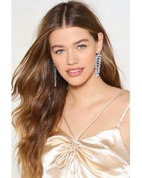 Nasty Gal - Embellished Tear Drop Tiered Hanging Earring Embellished Tear Drop Tiered Hanging Earring - Lyst