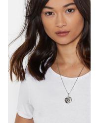 Nasty Gal - What's Your Sun Sign Coin Necklace - Lyst