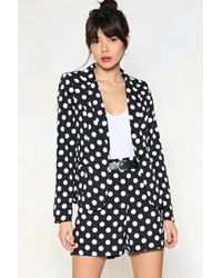 Nasty Gal - Dot My Attention Polka Dot Blazer - Lyst