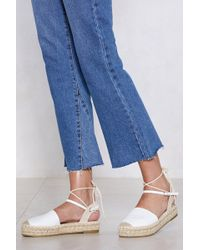 Nasty Gal - Know The Ropes Espadrille Platform - Lyst