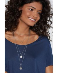 Nasty Gal - Came Through Drippin' Layered Necklace - Lyst
