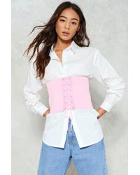Nasty Gal - Pink Corset Belt Pink Corset Belt - Lyst
