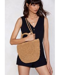 Nasty Gal - Want Straw Your Way To The Top Tote Bag - Lyst