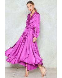 Nasty Gal - Steal The Spotlight Satin Dress - Lyst