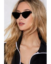 Nasty Gal - Play All The Angles Angular Cat-eye Shades - Lyst