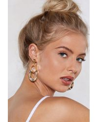 Nasty Gal - Shell It To Me Drop Earrings - Lyst