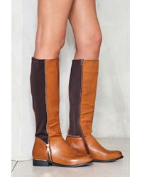 Nasty Gal - Knee High Riding Boot Knee High Riding Boot - Lyst