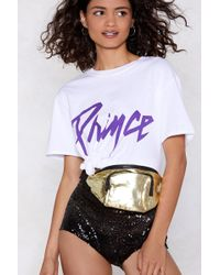 Nasty Gal - Want You're Glowing Metallic Fanny Pack - Lyst