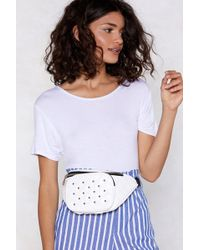 Nasty Gal - You're Glowing Metallic Fanny Pack - Lyst
