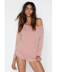 Nasty Gal - Cool Your Jets Ribbed Top And Shorts Lounge Set - Lyst