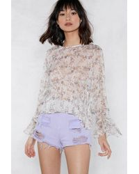 Nasty Gal - Better Short It Out Ripped Shorts - Lyst