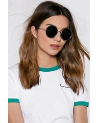Nasty Gal - Big Wave Round Shades - Lyst