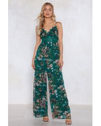 Nasty Gal - Ready For The Grow Up Floral Jumpsuit - Lyst