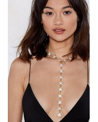Nasty Gal - Orion's Belt Star Necklace - Lyst
