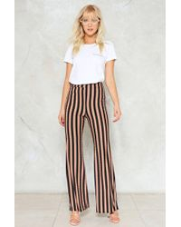 "Nasty Gal - ""flare To The Throne Striped Pants"" - Lyst"