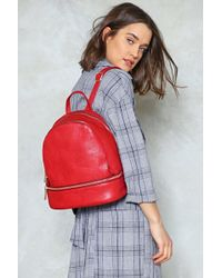 Nasty Gal - Smooth Zip Mini Backpack - Lyst