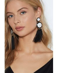 Nasty Gal - Round Tassel Earrings - Lyst