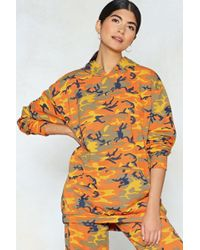 Nasty Gal - Makin' A Camo Appearance Hoodie - Lyst