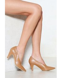 Nasty Gal - The Perfect Match Court Heel - Lyst