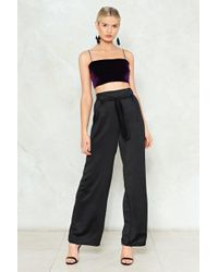 Nasty Gal - Time Is On Your Wide High-waisted Pants Time Is On Your Wide High-waisted Pants - Lyst