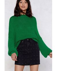 Nasty Gal - Knit Wasn't My Fault Oversized Sweater - Lyst