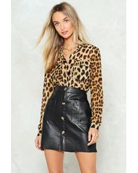 Nasty Gal - In Your Wildest Dreams Leopard Shirt - Lyst